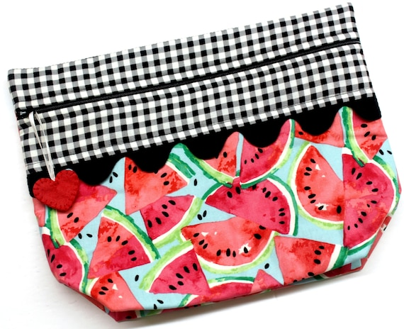 Lil' Big Bottom Summer Watermelons Cross Stitch Bag