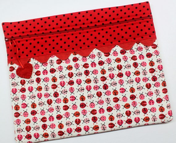 Ladybugs Cross Stitch Project Bag