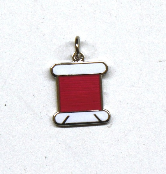 Exclusive Floss Bobbin Enamel Charm