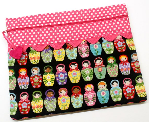 Matryoshka Dolls Cross Stitch Project Bag