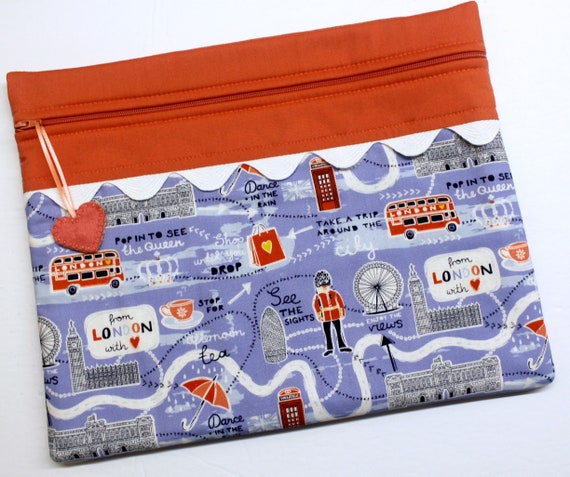 From London with Love Cross Stitch Project Bag
