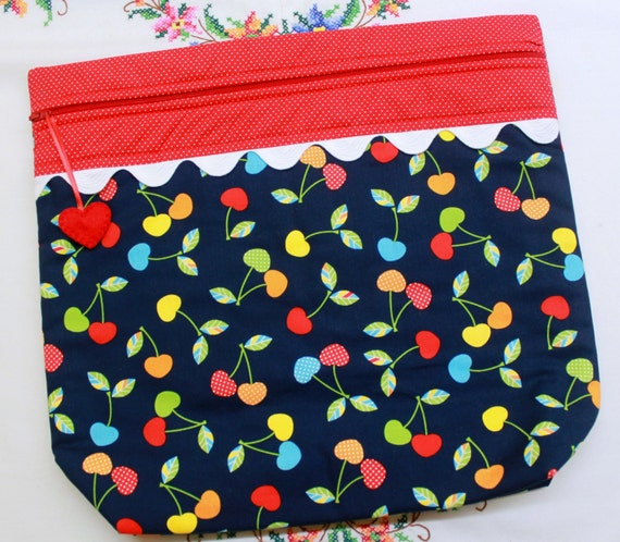 MORE2LUV Cherries Jubiliee Project Bag