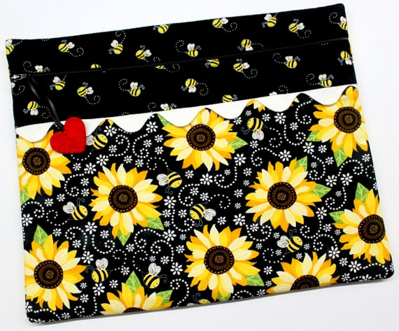Sunflowers & Bees Cross Stitch Project Bag