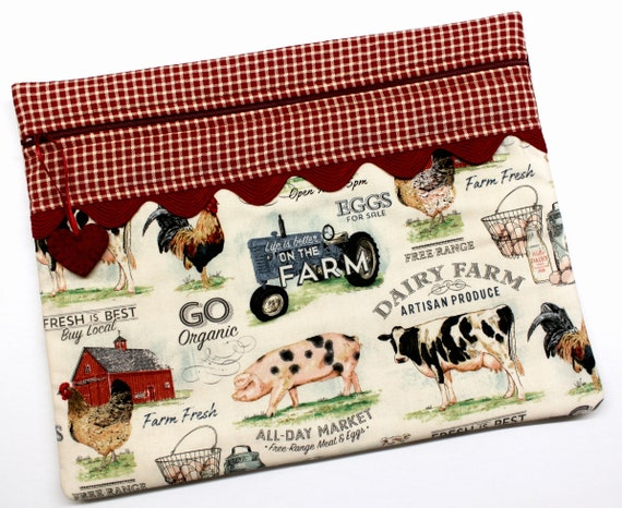 On the Farm Cross Stitch Project Bag