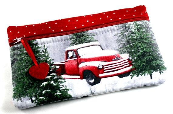 Snowy Red Truck Side Kick
