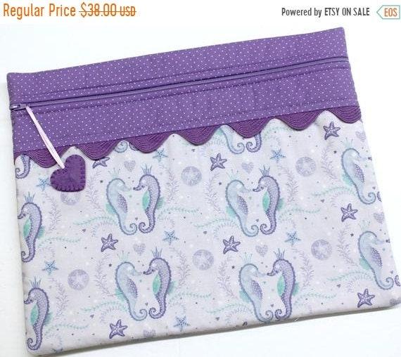 SALE Seahorse Cross Stitch Project Bag