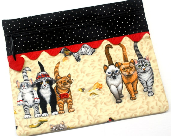 Cats at the Beach Cross Stitch Project Bag