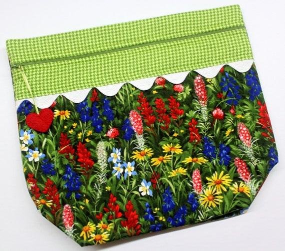 Big Bottom Wildflowers Cross Stitch Project Bag