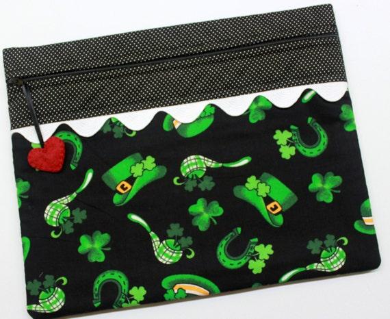 St Patrick's Day Cross Stitch Project Bag