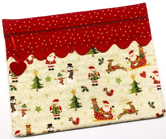 Golden Santa & Friends Cross Stitch Project Bag
