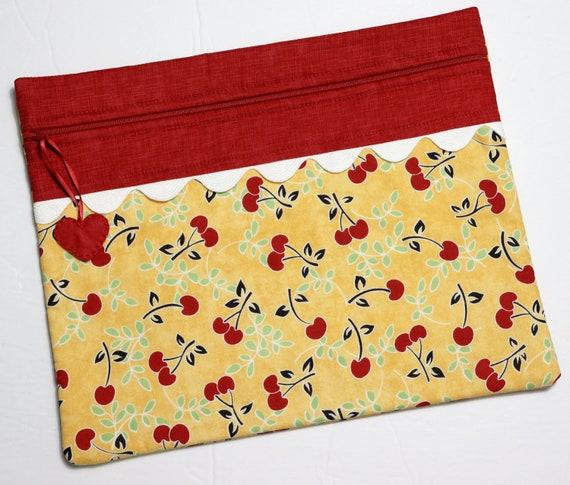 Summer Cherries Cross Stitch Project Bag
