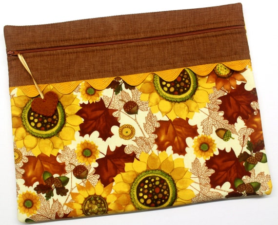 Fall's Bounty Cross Stitch Project Bag