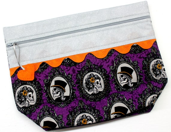 Lil' Big Bottom Silver Purple Halloween Cross Stitch Bag