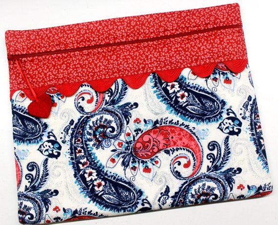 Americana Paisley Cross Stitch Project Bag