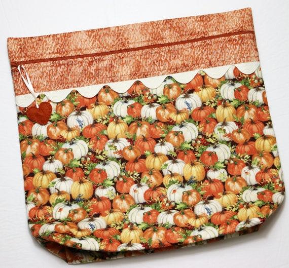 MORE2LUV Rustic Pumpkins Cross Stitch Project Bag