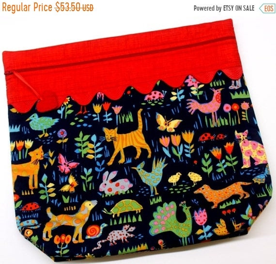 SALE MORE2LUV Wild and Free Animals Cross Stitch Project Bag
