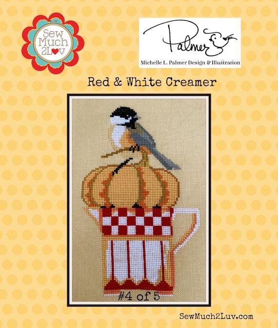 Red & White Creamer Cross Stitch Chart