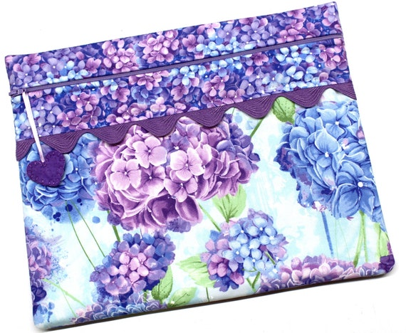 Purple Hydrangeas Cross Stitch Project Bag