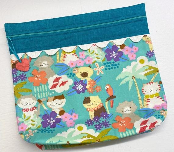 MORE2LUV Aloha Kitties Cross Stitch Project Bag