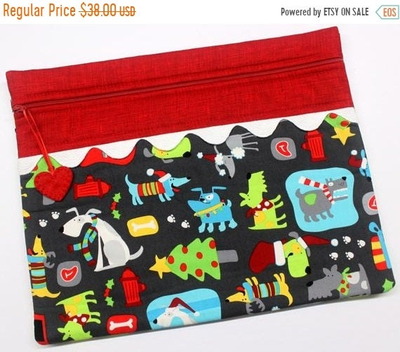 SALE Four Legged Festivities Cross Stitch Project Bag