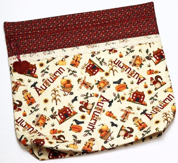 MORE2LUV Autumn Salt Box Cross Stitch Project Bag