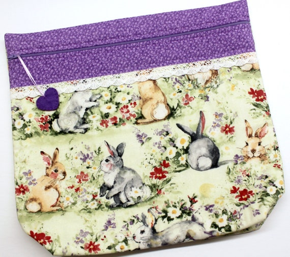 MORE2LUV Watercolor Bunnies Project Bag