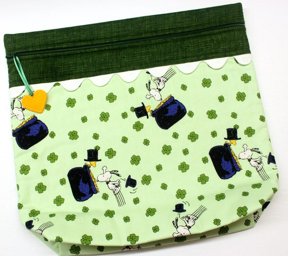 MORE2LUV Snoopy's Pot of Gold Project Bag