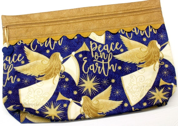LOTS2LUV Peace on Earth Cross Stitch Project Bag