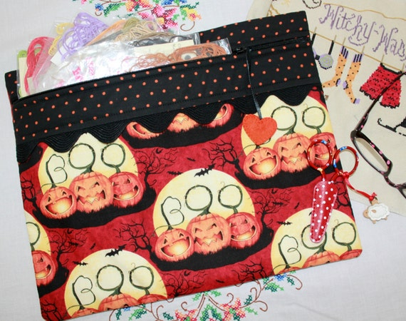 Boo To You Halloween Cross Stitch Project Bag