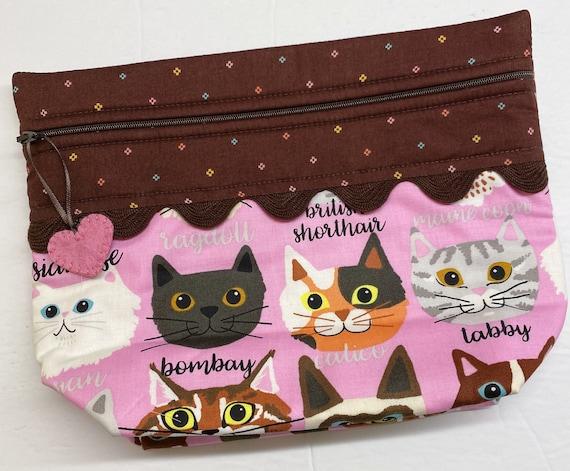 Lil' Big Bottom Stitching Buddy Cats Cross Stitch Bag