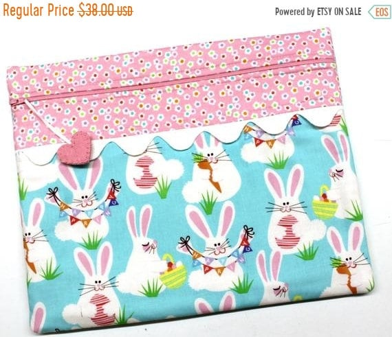 SALE Funny Bunny Cross Stitch Project Bag