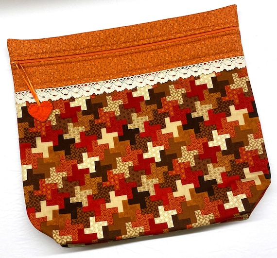 MORE2LUV Fall's Cozy Quilt Cross Stitch Project Bag