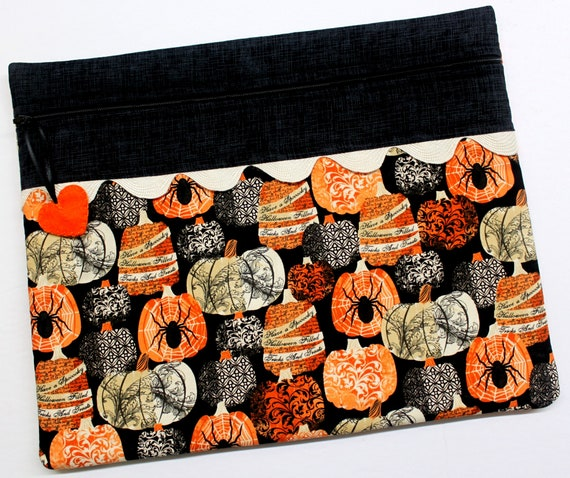 Creepy Pumpkins Cross Stitch Project Bag