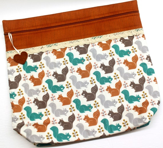 MORE2LUV Squirrel Friends Cross Stitch Project Bag