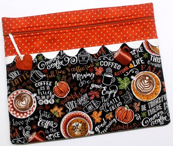 Pumpkin Spice Season Cross Stitch Project Bag