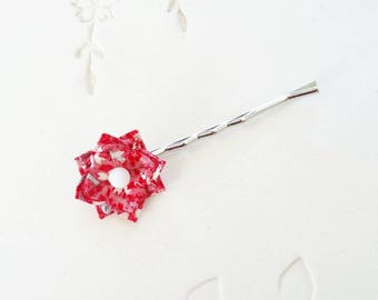 Japanese Origami Accessory - Origami Flower Bobby Pin No.03539