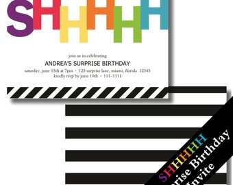 Surprise Birthday Invitation | Surprise Party Invitation | Surprise 60th Birthday Invitations | Surprise 30th Birthday Invitations