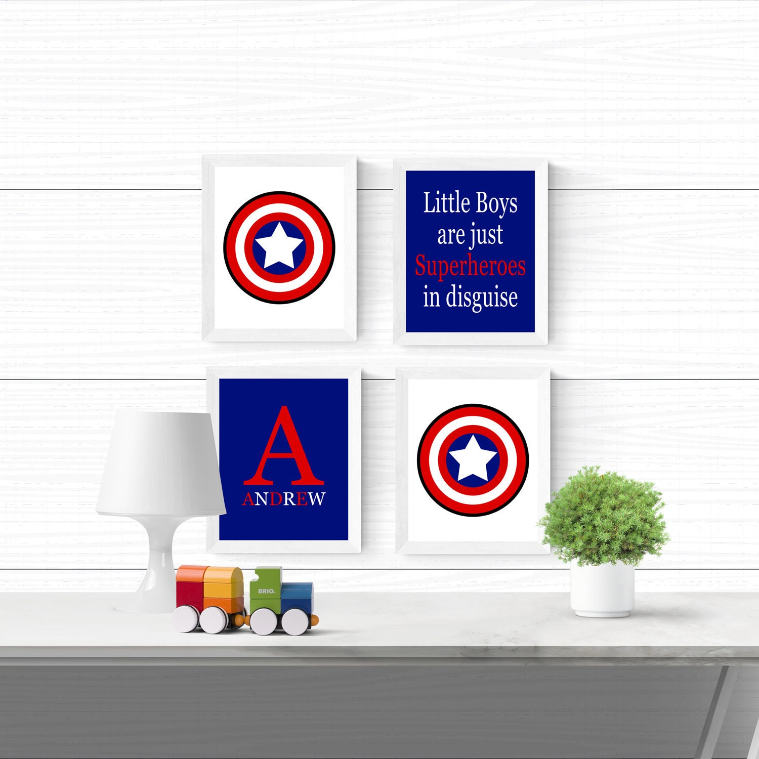 Captain America Kids Room Decor Captain America Room Decor Etsy