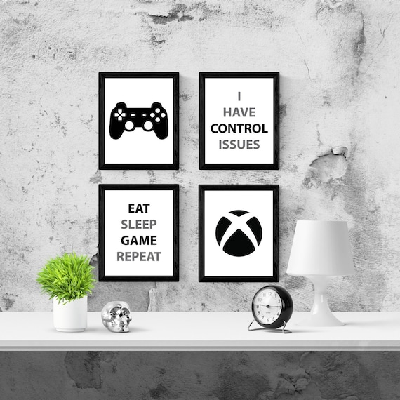 Xbox Kids Room Decor Xbox One Canvas Wall Art Video Game Etsy