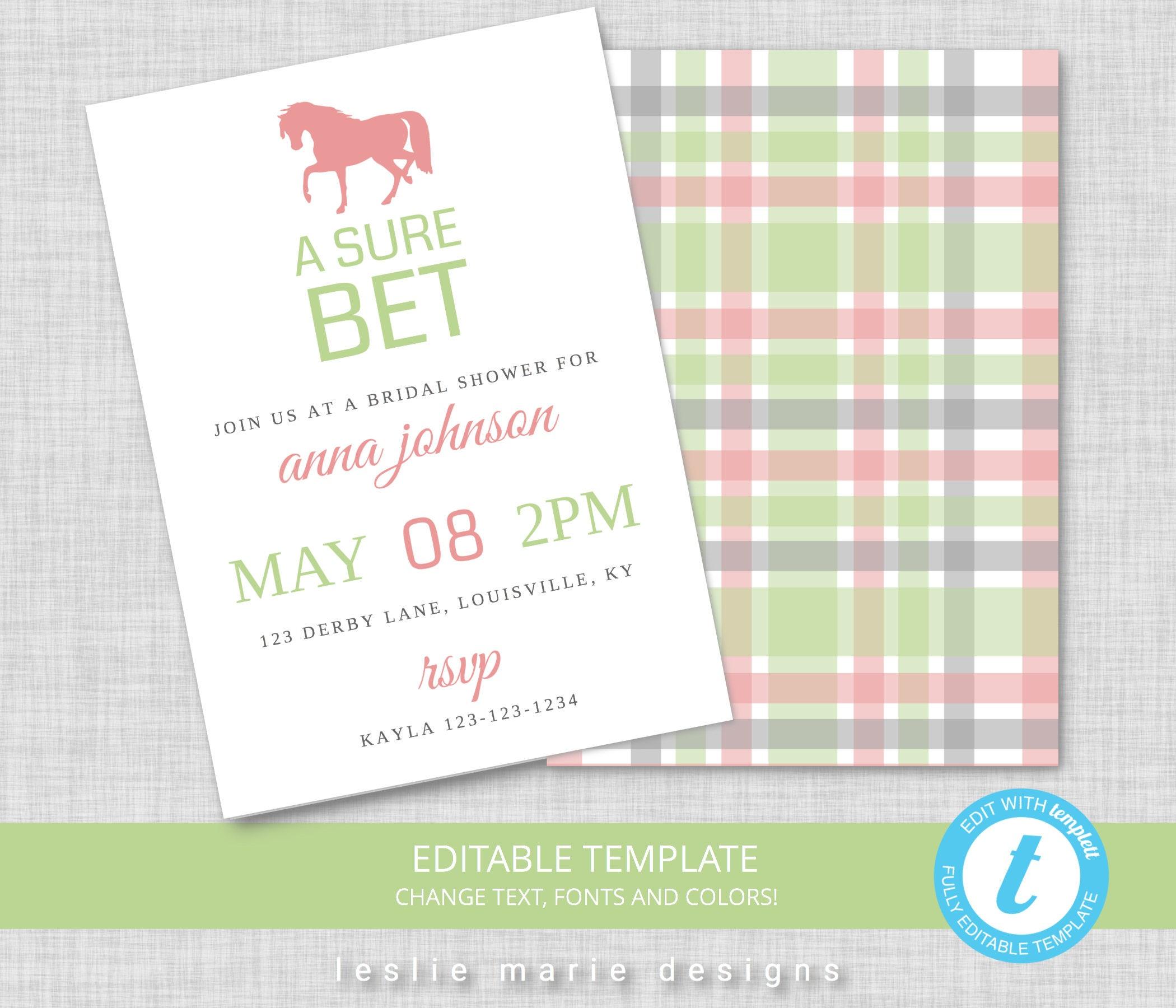 Kentucky Derby Party Invitation Kentucky Derby Bridal Shower | Etsy