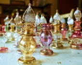 Lot 20 Small Vintage Egyptian Mouth Blown Glass Perfume Incense Bottles Vials Droppers