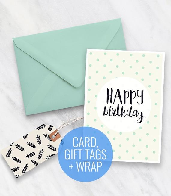 photo regarding Printable Birthday Gift Tags named Printable Birthday Card, Present Tags and Wrapping Paper Fastened