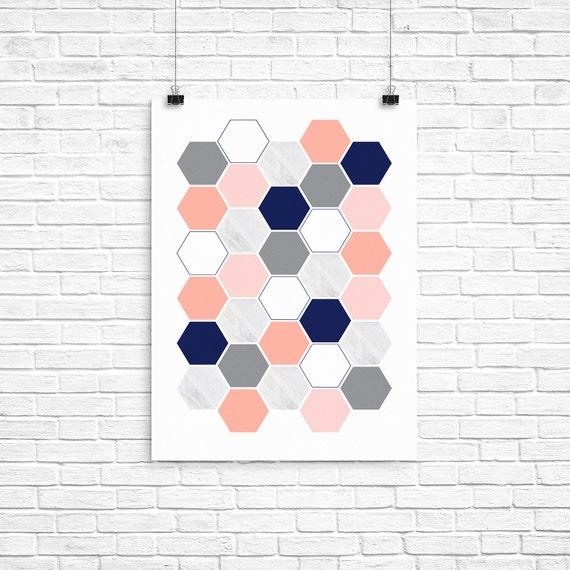 photo regarding Printable Hexagons identified as Printable Artwork / Printable Poster / Printable Wall Artwork Fixed