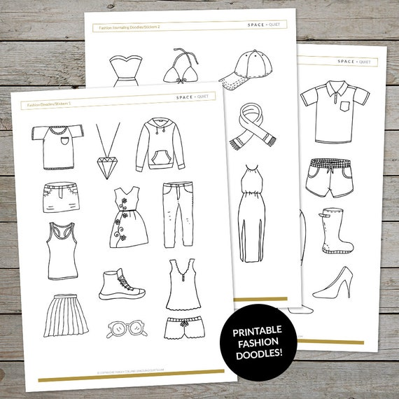 photograph regarding Printable Fashion identify Printable Design Drawings - Bullet Magazine Drawing Prompts