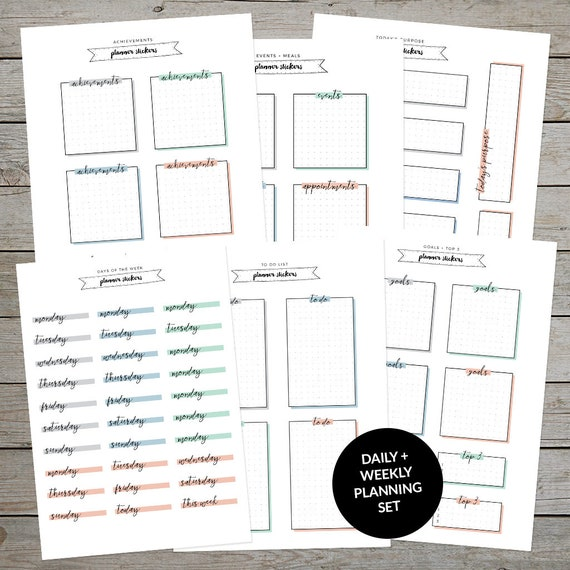 photo regarding Weekly Journal Template identify Printable Planner Stickers - Bullet Magazine Stickers