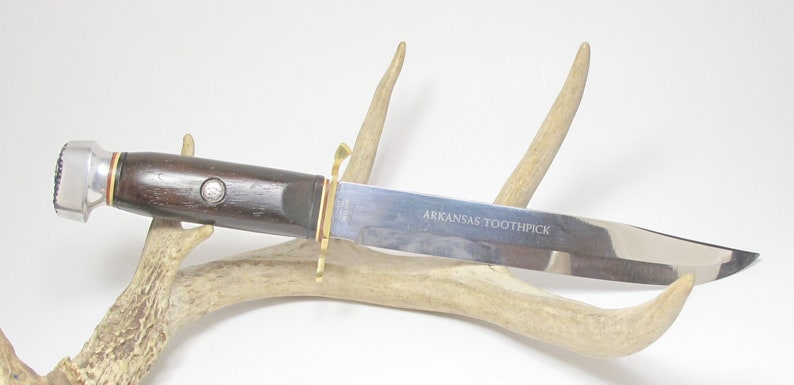 Vintage Edge Brand Solingen Germany XL #432 Arkansas Toothpick Bowie Sheath  Knife High Carbon Solingen Germany Stainless Bowie Hunting Knife