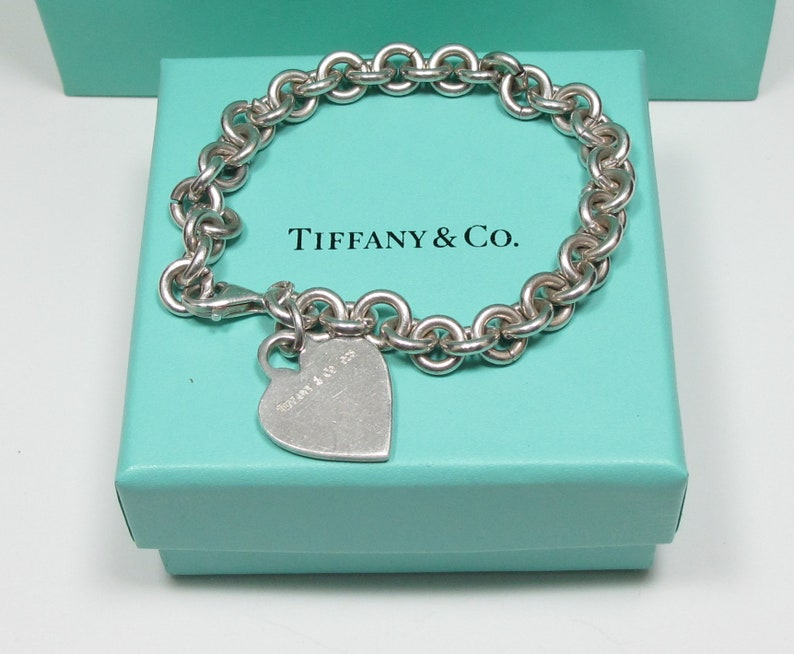 48eeafeeb Vintage Tiffany & Co. Solid Sterling Silver Heart Charm   Etsy