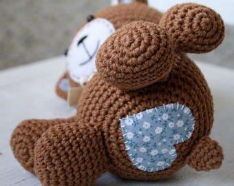 PATTERN - Smugly-bear - crochet amigurumi pattern, PDF (English, Dutch)