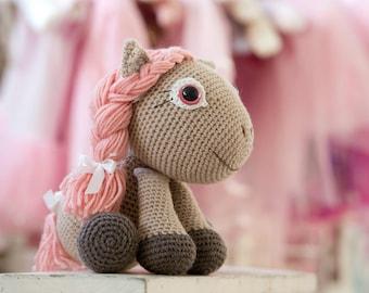 Amigurumi pony pattern - Pony girl - crochet horse toy, printable pdf, tutorial, DIY