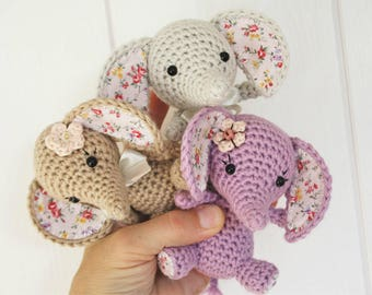 PATTERN - Tiny luck elephant - crochet amigurumi pattern, PDF (English, Dutch)